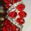 (ขายแล้วค่ะ) K012 กำไลวง คริสตัลโมดาร (สีแดง) thumbnail 2