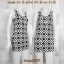 LOT SALE!! Dress2087 เดรสแฟชั่น ผ้าเนื้อดีหนาสวยยืดขยายได้เยอะ โทนสีขาวดำ ลายกราฟฟิค thumbnail 1
