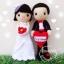 """ตุ๊กตาถัก คนแต่งงาน 9"""" (8) thumbnail 1"""