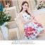 **สินค้าหมด Dress4016 ชุดเดรสทรงสวยผ้าลายเชิงพิมพ์ลายผีเสื้อดอกไม้สีแดงพื้นขาว ซิปข้างใส่ง่าย มีซับในอย่างดีทั้งชุด ผ้าชีฟองอัดลายเนื้อดีหนาสวยเกรดพรีเมียมมีน้ำหนักทิ้งตัวสวย ผ้าสวยเกินราคา งานดีเหมือนราคาหลักพัน แนะนำเลยจ้า thumbnail 4