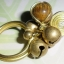 (ขายแล้วค่ะ) C013 แหวนทองเหลือง ลายก้นหอย ประดับหินไทเกอร์ thumbnail 3