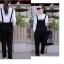 เอี๊ยมกางเกงสีดำ+เสื้อยืดแขนยาวสีขาวล้วน พร้อมส่ง ทรงสวยน่ารักเว่อร์ เอวยืดสม้อคหลัง เอี้ยมเนื้อผ้า polo thumbnail 7