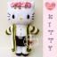 """ตุ๊กตาถัก kitty รับปริญญา 15"""" thumbnail 1"""