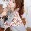 เสื้อแฟชั่นแขนยาว พร้อมส่ง แต่งลูกไม้ลายดอก สีดอกจะเข้มกว่าในภาพ เก๋ๆ เอวจั้ม น่ารัก เกาหลีมากจ้า thumbnail 1