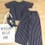 **สินค้าหมด Set_bt1563 ชุดเซ็ท 2 ชิ้น(เสื้อ+กางเกง)แยกชิ้น เสื้อคอกลมแขนสั้น กางเกงขายาวห้าส่วนเอวสม็อคยางยืด ผ้าไหมอิตาลีลายริ้วสีกรมท่า ผ้าเนื้อนุ่มใส่สบาย งานสวยน่ารักสไตล์เก๋ๆ ชิคๆ เซ็ทสองชิ้นสวยคุ้ม ใส่เก๋ๆ ได้บ่อยจ้า thumbnail 1