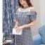 **สินค้าหมด Dress4038 เดรสทรงปล่อยเว้าไหล่แขนตุ๊กตา ช่วงบ่าผ้าคอตตอนเนื้อนุ่มสีพื้นขาวตัดต่อผ้าทอญี่ปุ่นเนื้อดีหนาเรียบสวยไม่ยับง่ายลายสก็อตโทนสีเทา แต่งกระดุมหน้า มีเข็มขัดผ้าเข้าชุด งานน่ารักผ้าเนื้อดีสวยเกินราคา ชุดเดียวสวยจบ ทรงนี้ใส่ได้บ่อย แนะนำเลยน thumbnail 12