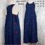 Dress3409 Maxi Dress ชุดเดรสยาว/แม็กซี่เดรสยีนส์ กระเป๋าเจาะข้าง ผ้ายีนส์แท้ปักลายกุหลาบทั้งชุด สียีนส์เข้ม thumbnail 1
