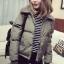 เสื้อกันหนาว บุนวมฟูๆ แต่งขนแกะที่คอปกเสื้อ ตัวสั้นน่ารัก ผ้าร่มเนื้อดีกันลม เกาหลีมากๆ พร้อมส่ง thumbnail 7