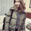 เสื้อกันหนาว บุนวมฟูๆ แต่งขนแกะที่คอปกเสื้อ ตัวสั้นน่ารัก ผ้าร่มเนื้อดีกันลม เกาหลีมากๆ พร้อมส่ง thumbnail 5