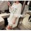 เสื้อตัวยาว/ mini dress สุดน่ารัก ผ้า cotton เนื้อนุ่มแต่งระบายหวานๆ thumbnail 5