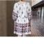 Dress4101 ชุดเดรสโบฮีเมียนสไตล์ แขนสี่ส่วน เอวสม็อค ผ้าลายเชิงเนื้อดีมีน้ำหนักทิ้งตัวสวย พื้นสีขาวครีม งานดีทรงดีสีสวย เนื้อผ้าใส่สบาย ทรงนี้ใส่ได้บ่อยเก๋ๆ ไม่ซ้ำใคร thumbnail 6