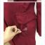 เสื้อโค้ทกันหนาว สไตล์เกาหลี ทรงสวย Classic ผ้าสักกะหลาด บุซับในกันลม ใส่แบบตั้งปกขึ้นก็เก๋ สีไวน์แดง พร้อมส่ง thumbnail 9