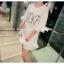 เสื้อตัวยาว/ mini dress สุดน่ารัก ผ้า cotton เนื้อนุ่มแต่งระบายหวานๆ thumbnail 9