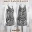 Dress2085 เดรสแฟชั่น ผ้าเนื้อดีหนาสวยยืดขยายได้เยอะ โทนสีขาวดำ ลายหิน thumbnail 1