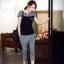 Set_bt1601 ชุดเซ็ท 2 ชิ้น(เสื้อ+กางเกง) เสื้อแขนสั้นสกรีนลายอก กางเกงขายาวสี่ส่วนเอวยืด มีกระเป๋าข้าง งานผ้าคอตตอนสีพื้นตัดลายสก็อต งานดีแบบน่ารัก ผ้านุ่มใส่สบายยืดขยายได้ ใส่เก๋ๆ ได้บ่อย มี 2 สี ขาว, ดำ thumbnail 5