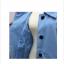 เสื้อโค้ทกันหนาว ทรงเก๋ ไม่เหมือนใคร สีฟ้าอ่อน ผ้าสำลี มีซับใน พร้อมส่ง thumbnail 8