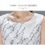 **สินค้าหมด Dress3802 เดรสยาวคลุมเข่า ผ้าซาตินซิลค์เนื้อหนาสวยลายดอกไม้พื้นสีขาว งานตัดเย็บอย่างดี มีซับในทั้งชุด แบบสวยหวานน่ารักมาก thumbnail 11
