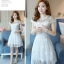 Dress4072 เดรสลูกไม้ลายสวยสีขาวสุดคลาสสิค มีซิปหลังใส่ง่าย งานดีทรงดีใส่สวย เรียบแต่หรู ผ้าดีเหมือนราคาหลักพัน ใส่ออกงานได้สบาย thumbnail 3