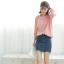 Sweater เสื้อสเวทเตอร์แขนยาว สีชมพู ทรงสวย จะใส่เดี่ยวไหรือใส่โค้ทคลุมก็เริ่ด thumbnail 10