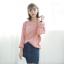 Sweater เสื้อสเวทเตอร์แขนยาว สีชมพู ทรงสวย จะใส่เดี่ยวไหรือใส่โค้ทคลุมก็เริ่ด thumbnail 9