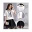 Set_bs1298 ชุด 2 ชิ้น(เสื้อ+กระโปรง)แยกชิ้น เสื้อคอปกสีขาวลายกระต่าย+กระโปรงบานซิปหลังมีซับในผ้าฉลุสีดำ thumbnail 3