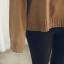 Sweater เสื้อสเวทเตอร์แขนยาว สีน้ำตาล ทรงสวย จะใส่เดี่ยวไหรือใส่โค้ทคลุมก็เริ่ด thumbnail 10