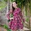 **สินค้าหมด Dress3969 ชุดเดรสแขนยาวทรงสวย ซิปหลัง งานตัดเย็บอย่างดี บุซับในทั้งชุด ผ้าอัดลายดอกไม้วินเทจโทนสีชมพูเข้ม ผ้าหนาสวยเกรดพรีเมี่ยมทรงดีดูสวยแพง thumbnail 2
