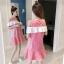 **สินค้าหมด Dress4157 เดรสทรงปล่อยเว้าไหล่แต่งระบายสีขาวช่วงอก ผ้าคอตตอนลายริ้วเนื้อดีนุ่มใส่สบาย งานสวยใส่ง่ายน่ารักมาก ทรงนี้มีติดตู้ไว้ใส่ได้เรื่อยๆ มี 2 สี แดง, กรม thumbnail 6
