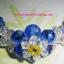 (ขายแล้วค่ะ) L05 สร้อยข้อมือถักรูปดอกไม้ คริสตัลโมดาร์สีน้ำเงิน thumbnail 1