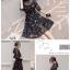 Dress4137 เดรส 2 ชิ้น(ชุดเดรส+สายเดี่ยว) ชุดเดรสยาวคลุมเข่า เอวสม็อคยางยืด ผ้าชีฟองเนื้อดีลายดอกไม้พื้นสีดำ มีสายเดียวตัวใน งานดีทรงสวย ดีไซน์เรียบหรู เนื้อผ้าใส่สบาย ทรงนี้ใส่ได้เรื่อยๆ เลยจ้า thumbnail 3