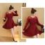 **สินค้าหมด Dress3757 ชุดเดรสแขนยาวระบาย แต่งผ้าลูกไม้ช่วงอกและแขน สีไวน์แดง งานสวยหรูตามแบบ ใส่ออกงานได้ แนะนำเลยจ้า thumbnail 4