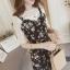 Dress4133 เดรสสายเดี่ยวลายดอกไม้โทนสีดำ มีซิปหลังใส่ง่าย สายผูกเอว ผ้าชีฟองเนื้อดีหนาสวย งานดีทรงดีแมทช์กับเสื้อสไตล์ไหนก็น่ารัก ผ้าดีใส่สวย ทรงนี้มีติดตู้ไว้ใส่ได้เรื่อยๆ เลยจ้า (งานขายเฉพาะเดรสไม่รวมเสื้อตัวในจ้า) thumbnail 2