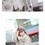 ผ้าพันคอกันหนาว ไหมพรม เกาหลี สีขาวแซมดำ น่ารักคุณหนู พร้อมส่ง thumbnail 3