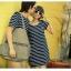 พร้อมส่ง - ชุดคู่รัก เกาหลี ลายขวาง น่ารัก ราคา/คู่ thumbnail 1