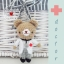 """ตุ๊กตาถัก คุณหมอ (น้องหมี) 4"""" thumbnail 1"""