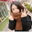 ผ้าพันคอไหมพรม เกาหลี สีน้ำตาล มิกกับชุดไหนก็สวย ใส่ได้ทั้งผู้ชายและผู้หญิง พร้อมส่ง thumbnail 3