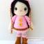 """ตุ๊กตาถัก สาวน้อยชุดชมพู 9"""" thumbnail 2"""