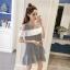 **สินค้าหมด Dress4157 เดรสทรงปล่อยเว้าไหล่แต่งระบายสีขาวช่วงอก ผ้าคอตตอนลายริ้วเนื้อดีนุ่มใส่สบาย งานสวยใส่ง่ายน่ารักมาก ทรงนี้มีติดตู้ไว้ใส่ได้เรื่อยๆ มี 2 สี แดง, กรม thumbnail 11