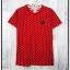 blouse3307 เสื้อยืดแฟชั่นงาน Play คอกลม แขนสั้น ผ้า Cotton เนื้อดีลายจุด สีแดง thumbnail 1