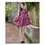 **สินค้าหมด Dress3969 ชุดเดรสแขนยาวทรงสวย ซิปหลัง งานตัดเย็บอย่างดี บุซับในทั้งชุด ผ้าอัดลายดอกไม้วินเทจโทนสีชมพูเข้ม ผ้าหนาสวยเกรดพรีเมี่ยมทรงดีดูสวยแพง thumbnail 3