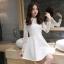 Dress3769 ชุดเดรสลูกไม้แขนยาวสีขาวงานเกรดพรีเมียม อกซีทรู คอแต่งลูกไม้ฉลุ มีซับในอย่างดีทั้งชุด ซิปหลัง งานผ้าลูกไม้อัดผ้ากาวเนื้อหนาสวยอยู่ทรง งานสวยหรูดูแพงสุดๆ แนะนำเลยจ้า thumbnail 27