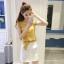 Set_bs1645 ชุด 2 ชิ้น(เสื้อ+กระโปรง) เสื้อแขนระบายผ้าชีฟองเนื้อหนาลายจุด+กระโปรงซิปหลังสีพื้นขาวผ้าไมโครเนื้อดีหนาเรียบสวย มีผ้าผูกเอวเข้าชุด งานน่ารักดีเทลดีงาม ผ้าดีงานสวยเหมือนราคาหลักพัน แมทช์ได้ลงตัว มี 2 สี เหลืองมัสตาร์ด, ดำ thumbnail 5