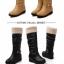 Boots รองเท้าบูท หนังสีน้ำตาลอ่อนแบบยาว เสริมส้นด้านใน บุขนแกะอุ่นและนุ่มมาก งานดีเหมือนแบบค่ะ thumbnail 5