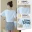 Set_bs1460 ชุด 2 ชิ้น(เสื้อ+กระโปรง)แยกชิ้น เสื้อยืดสีขาวแต่งลายอักษรตัวนูนผูกชายเสื้อเก๋ๆ+กระโปรงซิปหลังผ้าสกินนี่เนื้อหนาสวยลายซิกแซกสีขาวดำ งานดีผ้าสวยแมทช์กันได้อย่างลงตัว แยกใส่กับตัวอื่นก็สวยจ้า thumbnail 5