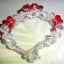 (ขายแล้วค่ะ) L01 สร้อยข้อมือถักรูปดอกไม้สีแดง คริสตัลโมดาร์ thumbnail 3
