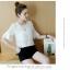 **สินค้าหมด Set_bp1548 ชุด 2 ชิ้น(เสื้อ+กางเกง) เสื้อแขนสามส่วนระบายอกแต่งลูกไม้ผ้าชีฟองเนื้อนุ่มสีพื้นขาว+กางเกงขาสั้นเอวยืดผ้าคอตตอนเนื้อดีสีพื้นดำ งานสวยน่ารักผ้าเนื้อดีนุ่มใส่สบาย ผ้าสวยเกินราคา แมทช์กันได้อย่างลงตัว thumbnail 6