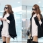 European style cape coat jacket พร้อมส่ง แบบสวยผู้ดี ไฮโซสุดๆ ทรงสวยเกาหลีมาก ผ้าสักกะหลาด thumbnail 7