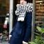 ผ้าพันคอกันหนาว ไหมพรม เกาหลี ลายตาราง ขาวดำ พร้อมส่ง thumbnail 4