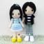 """ตุ๊กตาถัก คู่รัก เด็กแนว 12"""" thumbnail 1"""
