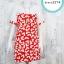 Dress3274 Big Size Dress ชุดเดรสแฟชั่นไซส์ใหญ่ อกลูกไม้ถักสีขาว แขนชีฟอง ผ้าหนังไก่เนื้อนุ่มยืดได้เยอะ ลายหัวใจพื้นสีส้ม รอบอก 40 นิ้ว thumbnail 1